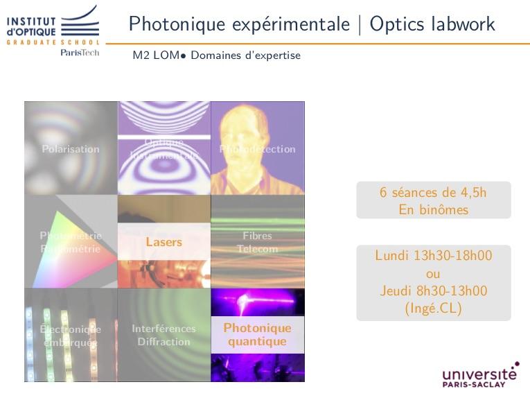 Photonique expérimentale 3A M2 LOM – Séquence 1