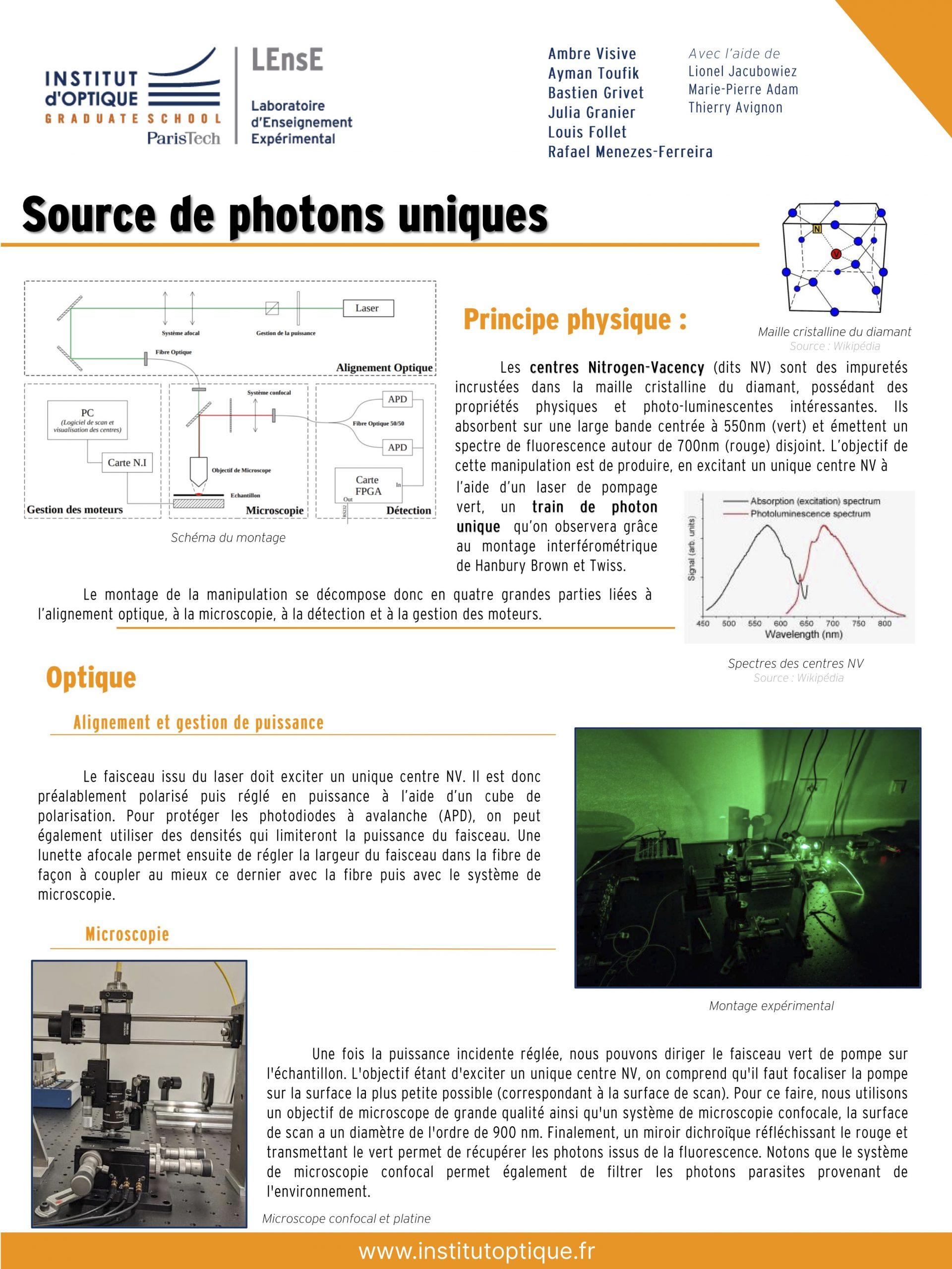 PIMS 2021 • Centres NV du diamant • Posters